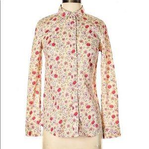 LC Lauren Conrad Floral Long Sleeve Button Down